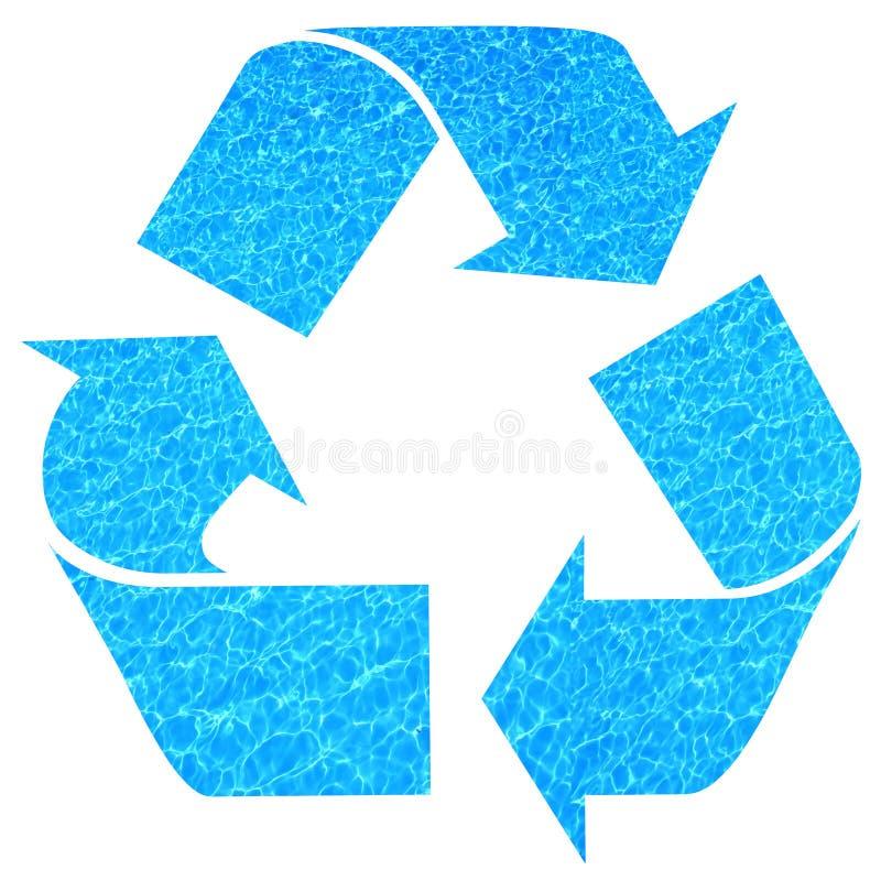 Het recycling van het water royalty-vrije illustratie
