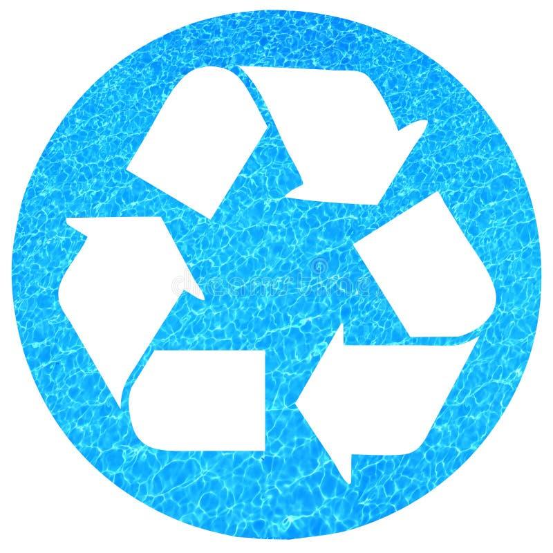 Het recycling van het water vector illustratie