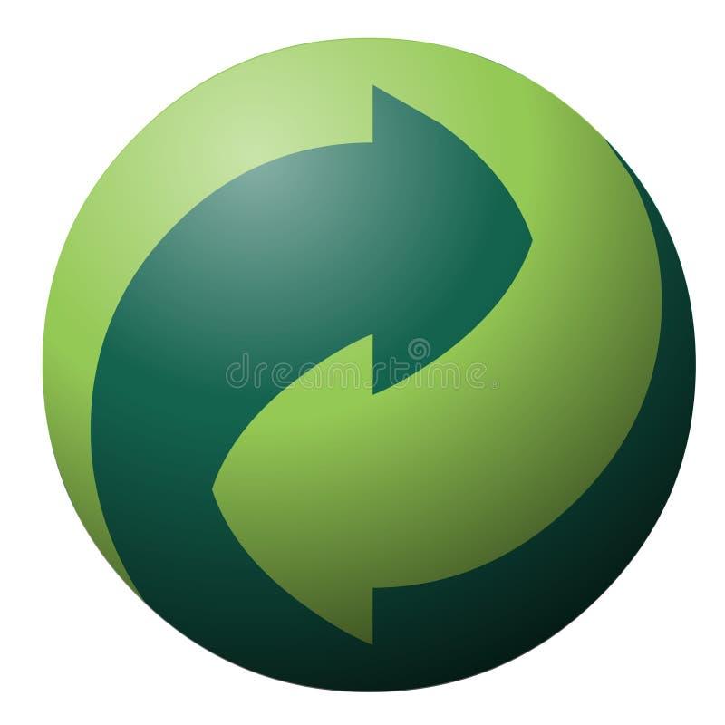 Het recycling van symbool vector illustratie