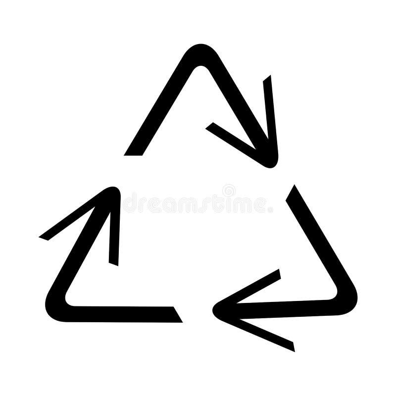 Het recycling van symbool van ecologisch zuivere fondsen, reeks pijlen royalty-vrije illustratie