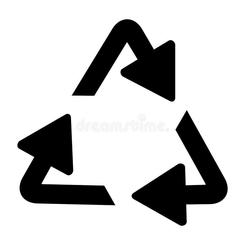 Het recycling van symbool van ecologisch zuivere fondsen, reeks pijlen stock illustratie