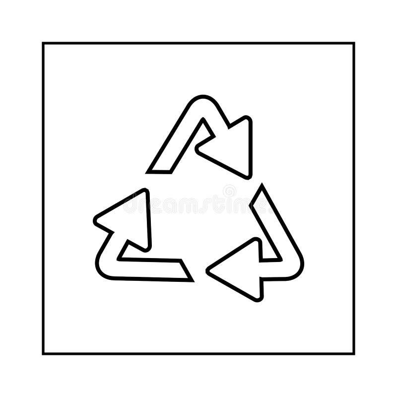 Het recycling van symbool van ecologisch zuivere fondsen, reeks pijlen vector illustratie