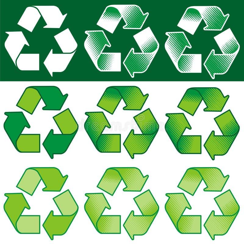 Het recycling van Symbool (vector) royalty-vrije illustratie