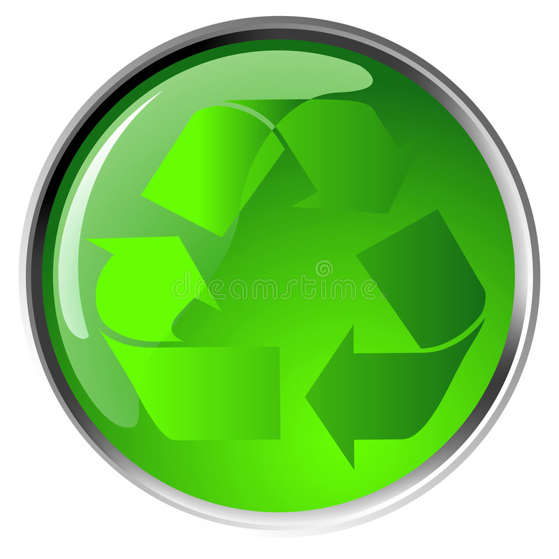 Het recycling van symboolpictogram stock illustratie