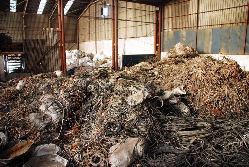Het recycling van vele kabels royalty-vrije stock foto's