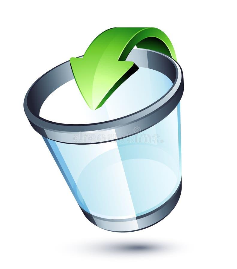 Het recyclingsbak van het afval vector illustratie