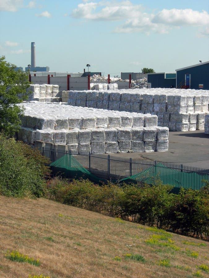 Het recyclingsinstallatie van het afval stock afbeelding