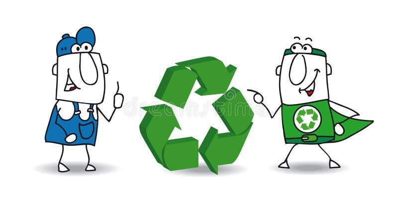 Het recyclingsteken stock illustratie