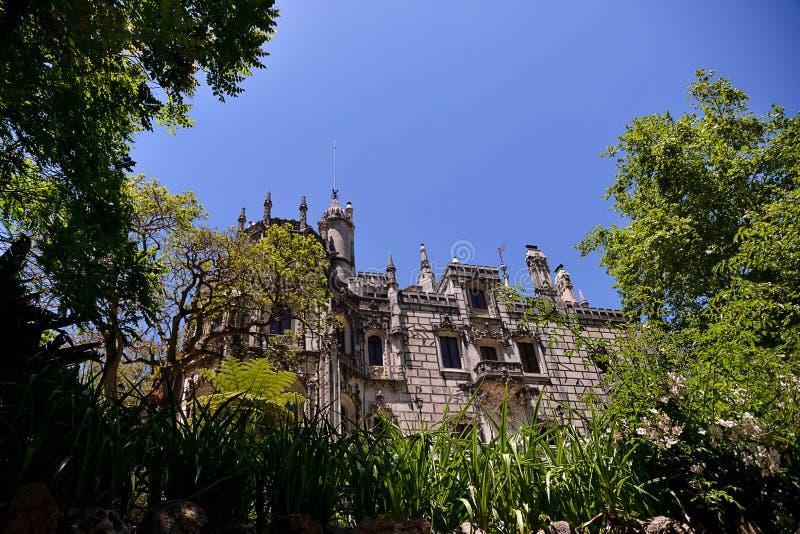 Het Regaleira-Paleis in Sintra royalty-vrije stock foto