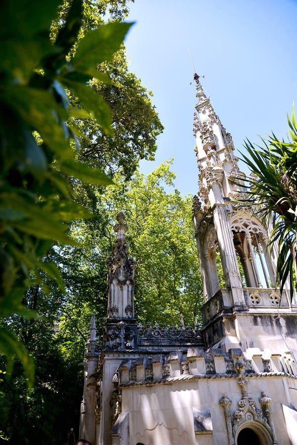 Het Regaleira-Paleis in Sintra royalty-vrije stock fotografie