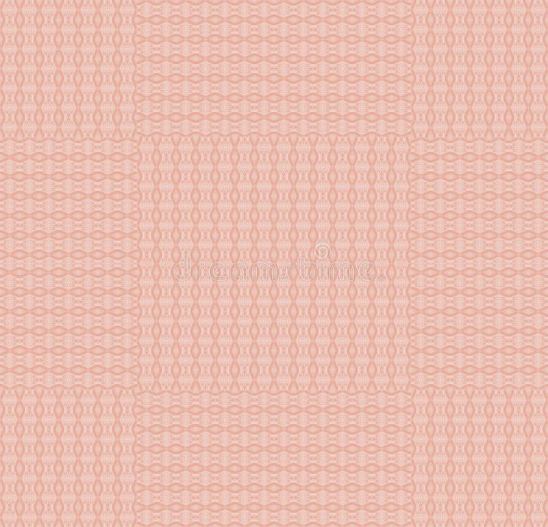 Het regelmatig roze van het ellipsenpatroon en verplaatste pastelkleurrood stock illustratie