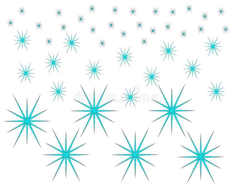Het regelmatige patroon van het ijskristal op witte achtergrond royalty-vrije illustratie