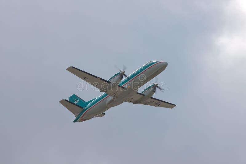 Het regionale vliegtuig van Saab 340A stock foto's