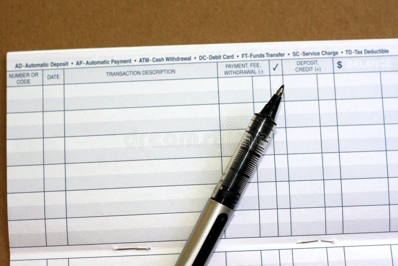 Het register van de transactie royalty-vrije stock fotografie