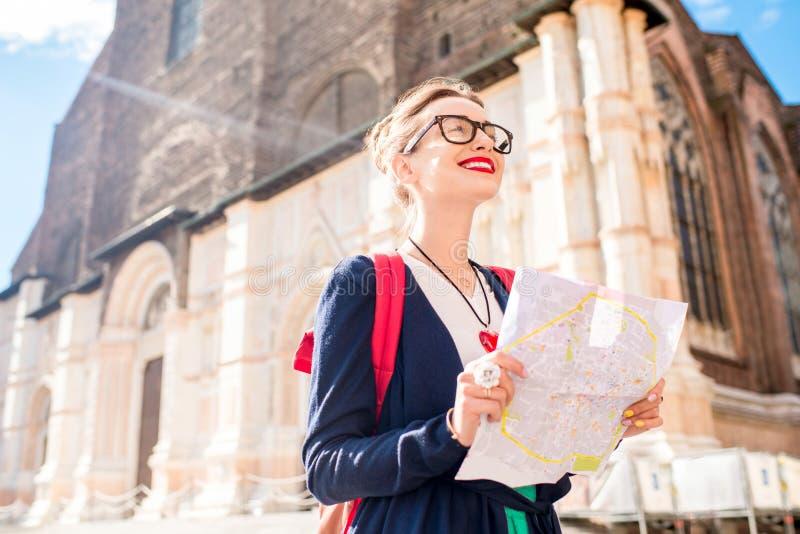 Het reizen in Bologna stock foto's