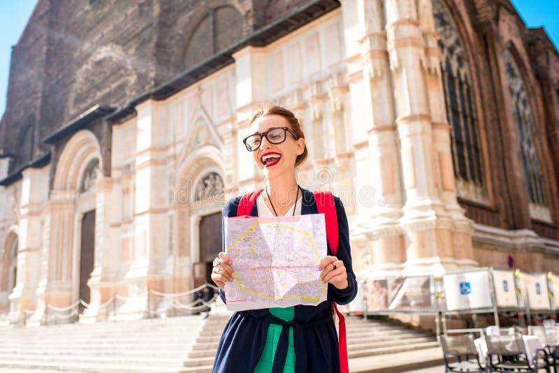 Het reizen in Bologna stock fotografie