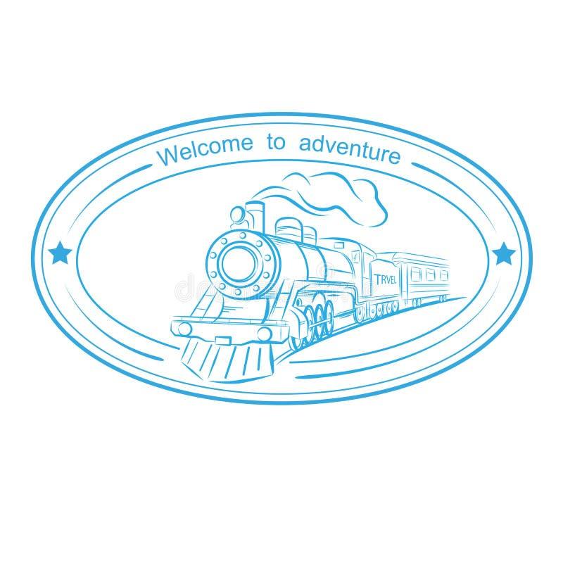 Het reizen door trein royalty-vrije illustratie
