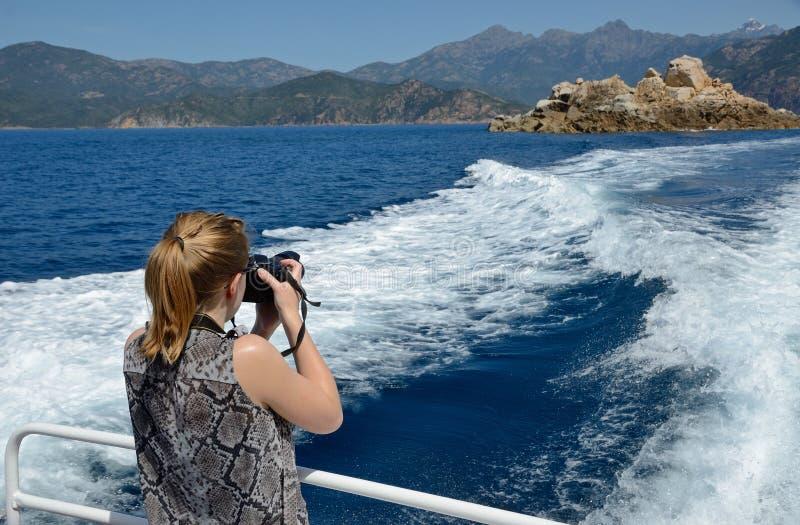 Het reizen langs de Corsicaanse zeekust royalty-vrije stock afbeeldingen