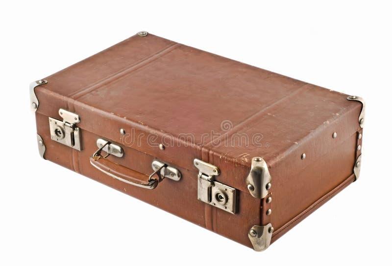 Het reizen - ouderwetse koffer royalty-vrije stock afbeeldingen