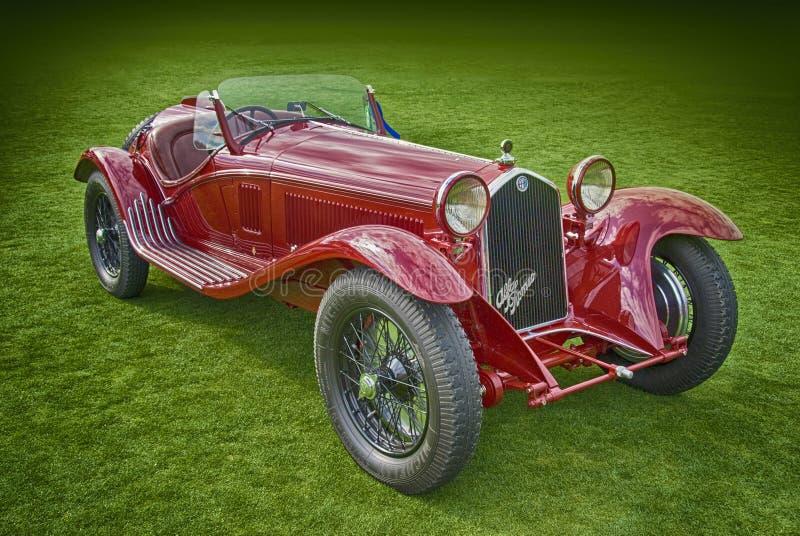 Het Reizen van Alfa Romeo 8C 2600MM Spin, 1934 stock fotografie