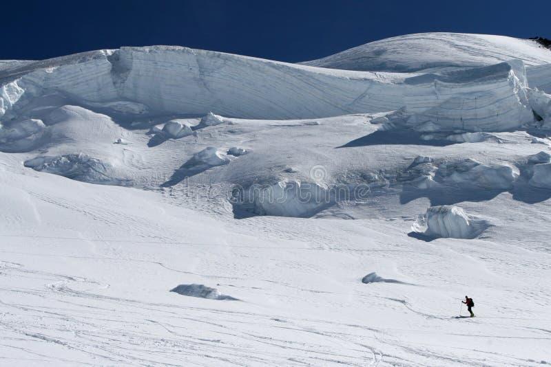 Het reizen van de ski royalty-vrije stock foto