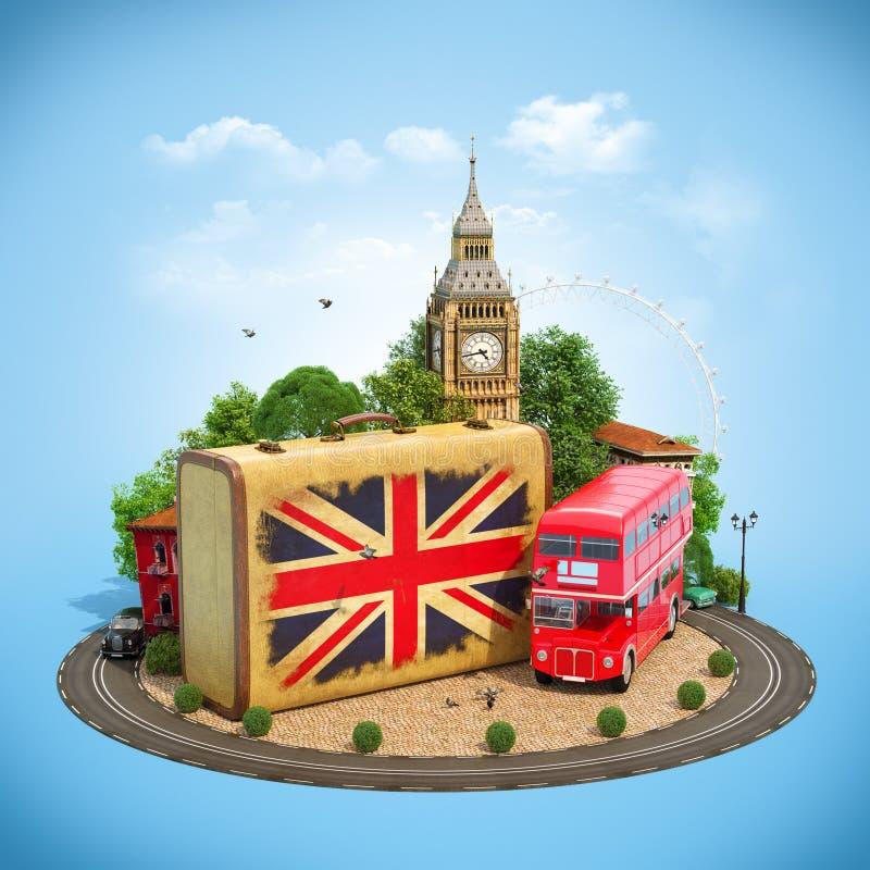 Het reizende concept van Londen vector illustratie
