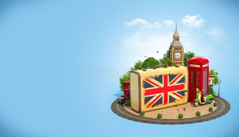 Het reizende concept van Londen stock illustratie