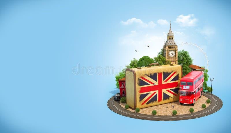 Het reizende concept van Londen royalty-vrije illustratie