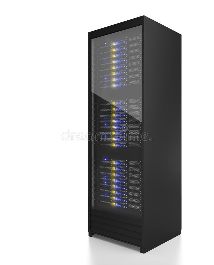 Het rekbeeld van de server vector illustratie