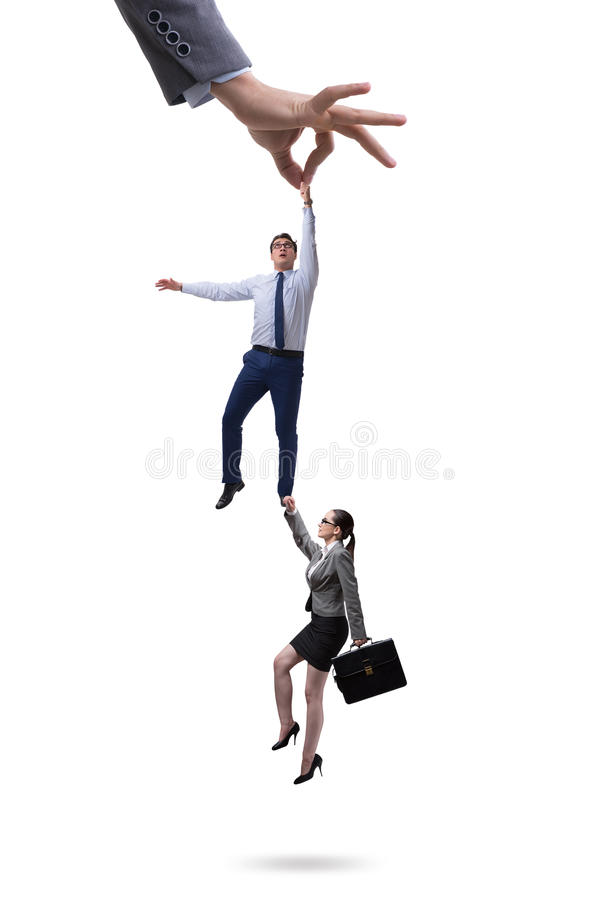 Het rekruteringsconcept met het met de hand plukken van werknemer stock fotografie