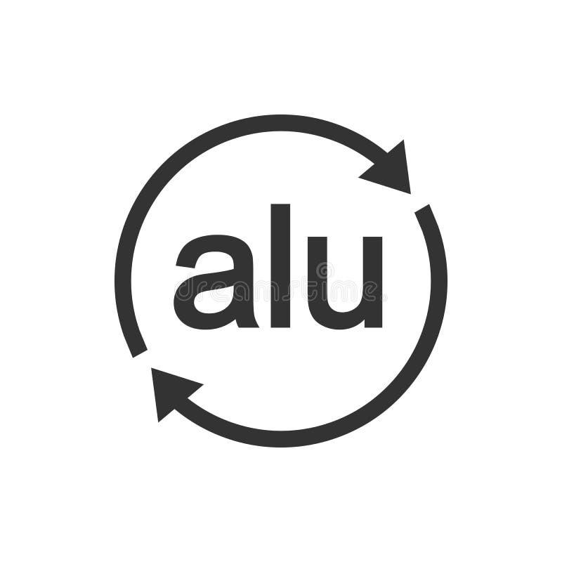Het rekupereerbare pictogram van het aluminiumteken Vectorillustratie, vlak ontwerp vector illustratie