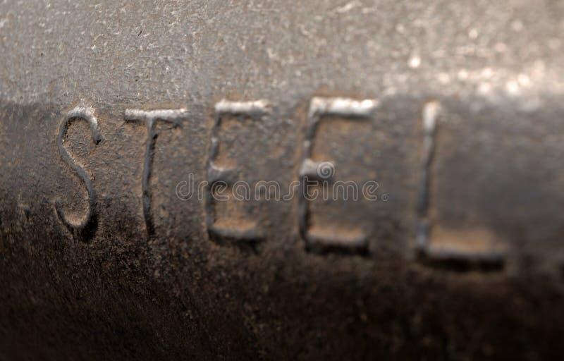Het in reliëf gemaakte staal van Word, stock afbeeldingen