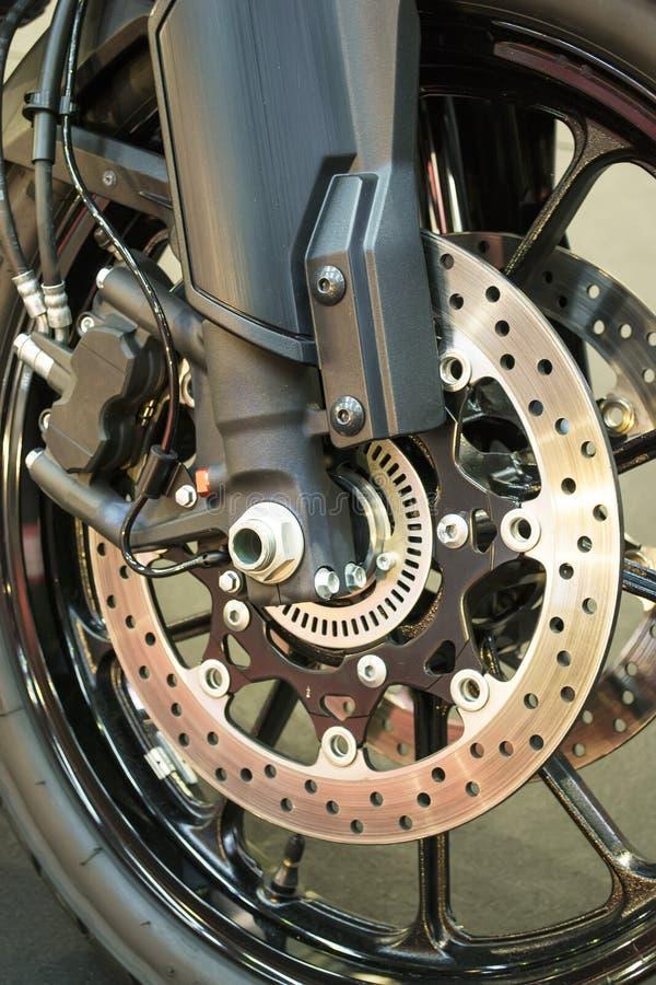 Het remmende systeem van de motorfiets stock fotografie