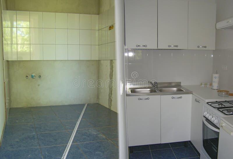 Het remodelleren van de keuken stock foto