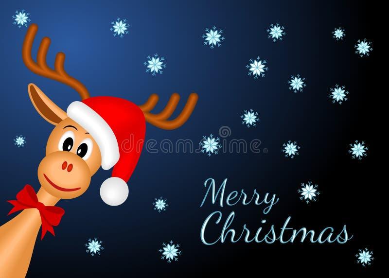Het rendier van Kerstmis vector illustratie