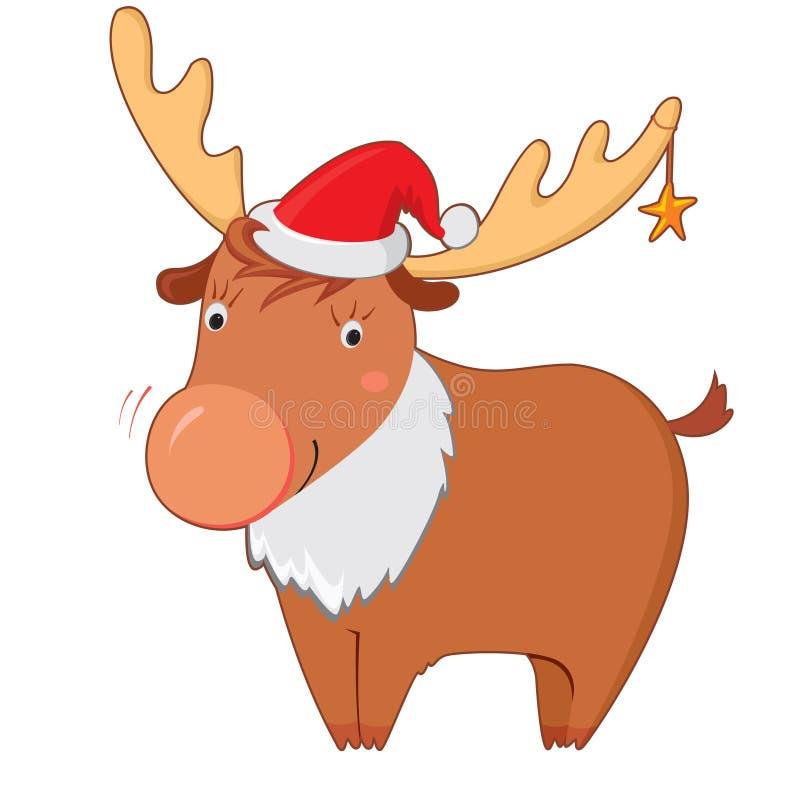 Het rendier van Kerstmis stock illustratie