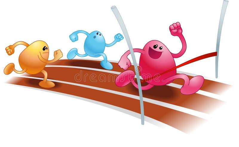 Het rennen beanies stock illustratie