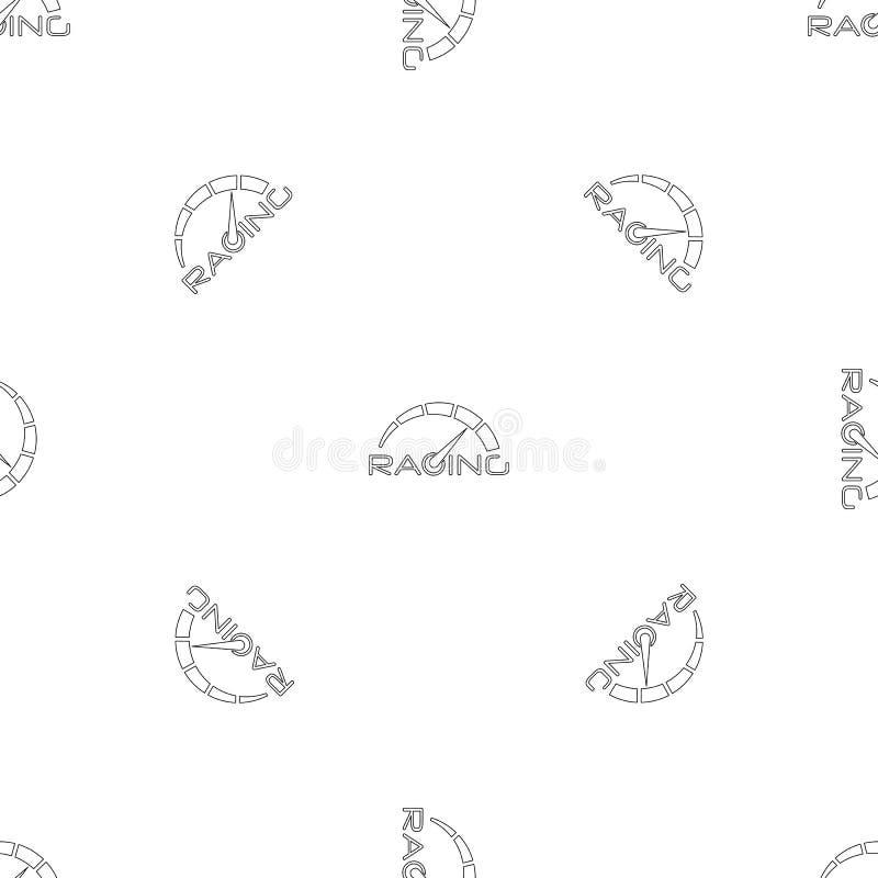 Het rennen de naadloze vector van het snelheidsmeterpatroon stock illustratie