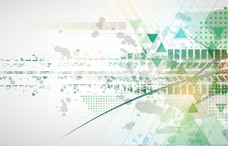 Het rennen groene achtergrond, vectorillustratieabstractie in ras vector illustratie