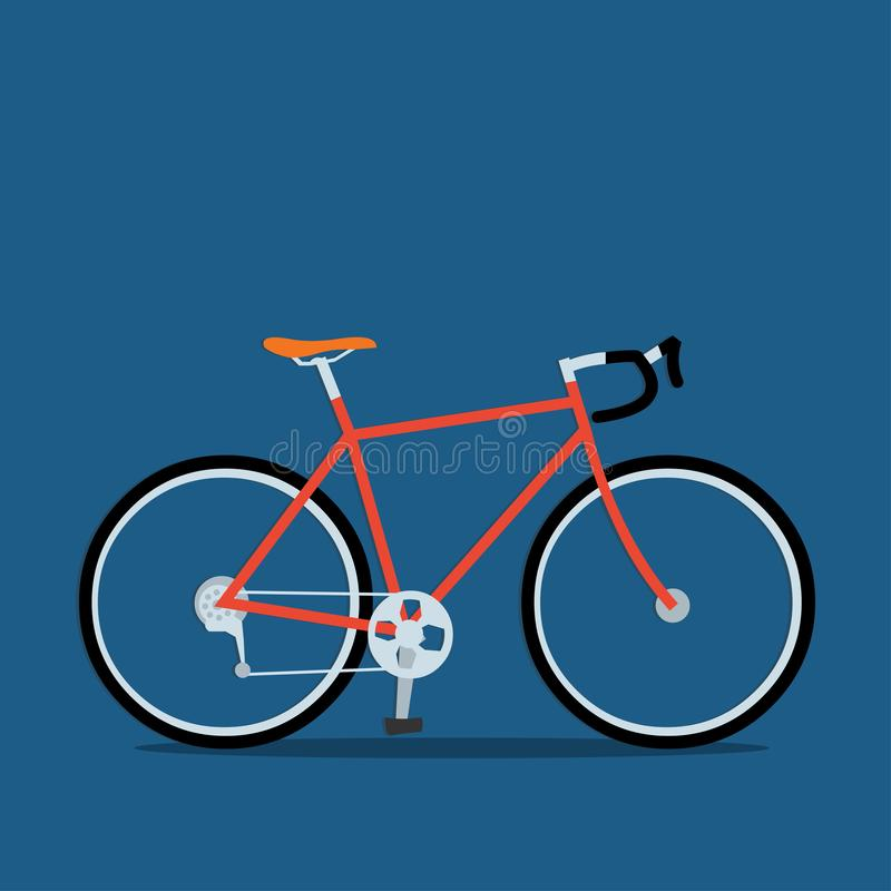 Het rennen illustratie van het fiets de vectorpictogram stock illustratie