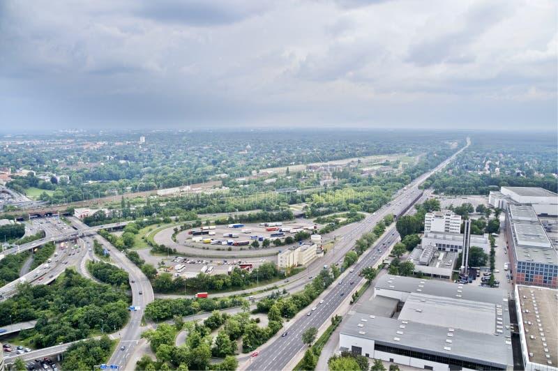 Het rennen van Avus cursus in Berlijn stock fotografie