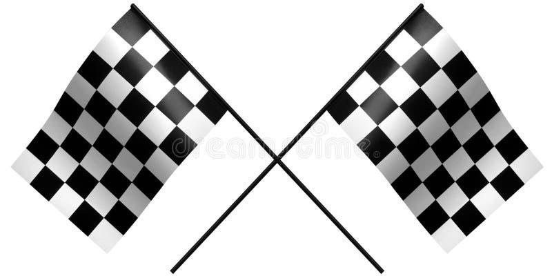 Het rennen van Chekered vlag royalty-vrije illustratie