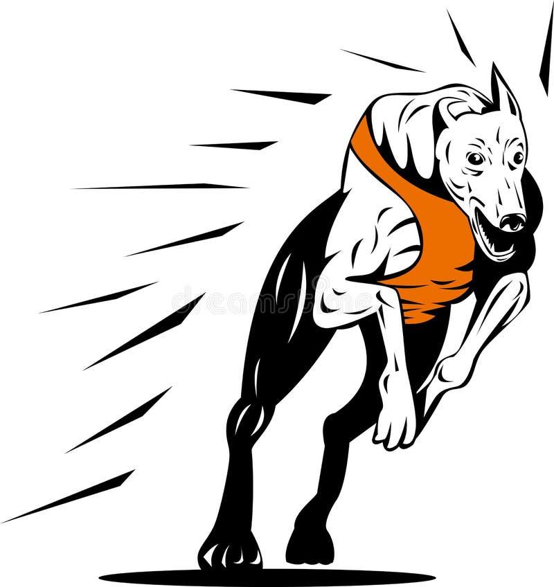 Het rennen van de windhond vector illustratie