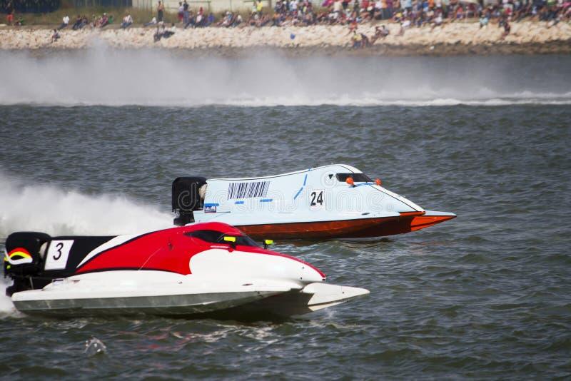 Het rennen van Powerboat stock fotografie