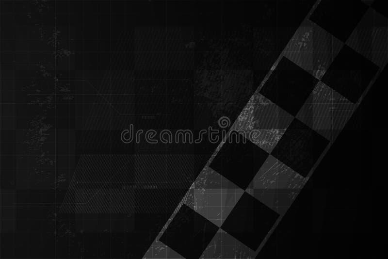 Het rennen vierkante achtergrond, abstractie in autospoor Vector illustratie EPS10 royalty-vrije illustratie