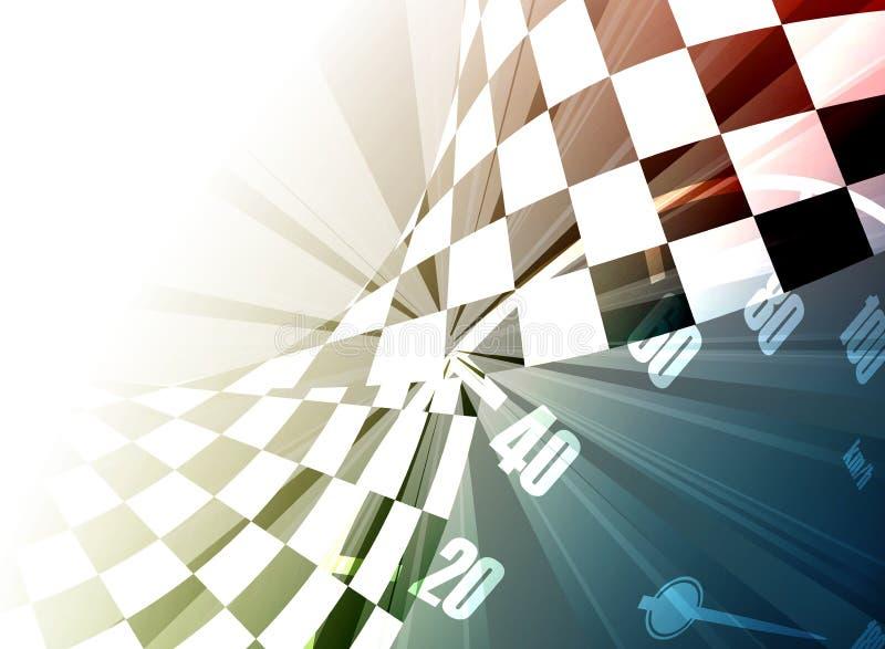 Het rennen vierkante achtergrond, vectorillustratie royalty-vrije illustratie