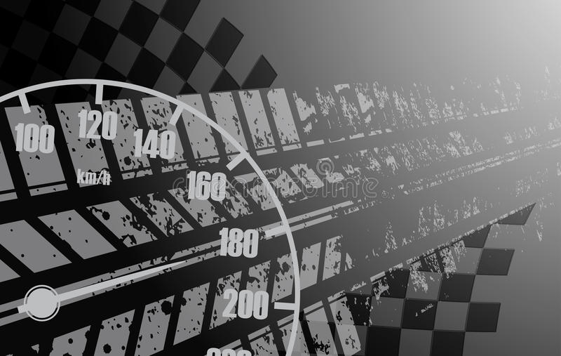 Het rennen vierkante achtergrond, vectorillustratieabstractie in rac vector illustratie