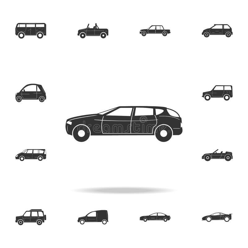 Het rennende pictogram van de snelheidsauto Gedetailleerde reeks auto'spictogrammen Premie grafisch ontwerp Één van de inzameling royalty-vrije illustratie