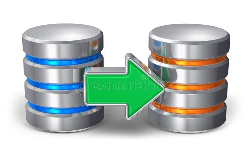 Het reserveconcept van het gegevensbestand royalty-vrije illustratie