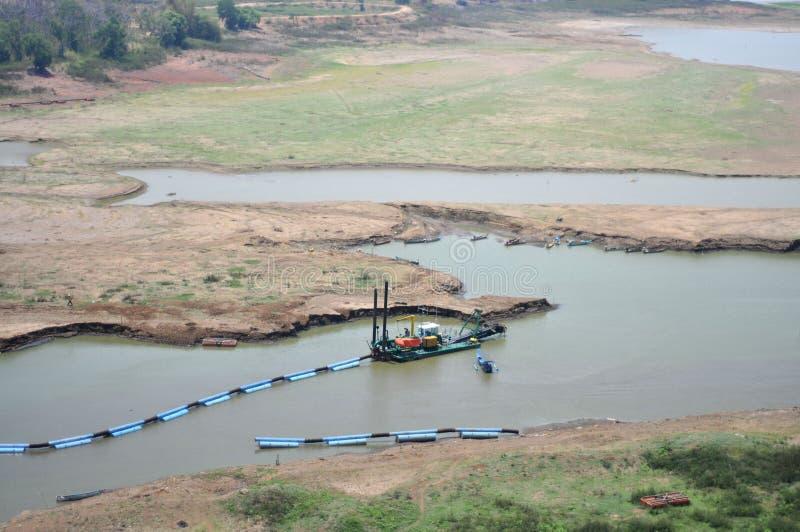 Het reservoir droogt in wonogiri stock fotografie